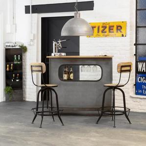 Bar Industriel gris en métal