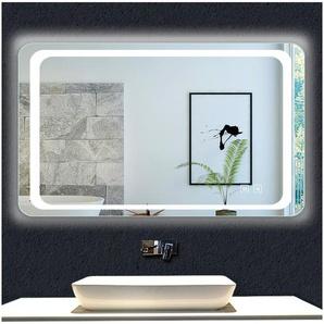 OCEAN Miroir de salle de bain 140x80cm anti-buée miroir mural avec éclairage LED modèle Classique plus - OCEAN SANITAIRE