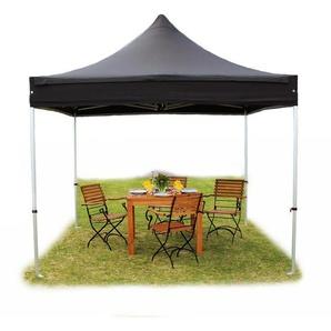 Tente pliante / pliable PREMIUM 3x3 m sans bâches de côté en Polyester de qualité noir - INTENT24.FR