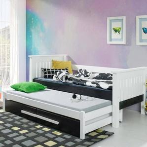 Lit gigogne Telmo renforcé - Blanc - 80 cm x 200 cm