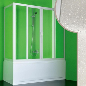 Cabine douche Pare-Baignoire 80x200 CM en acrylique mod. Plutone 2 avec ouverture centrale - IDRALITE