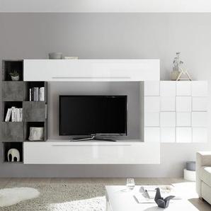 Ensemble télévision blanc et gris foncé design ARDENZA