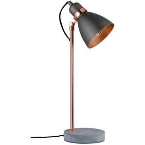Lampe de table Neordic ORM E27 Cuivre béton sans ampoule PAULMANN - 79624