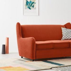 Rubens, canapé convertible, velours orange flamme