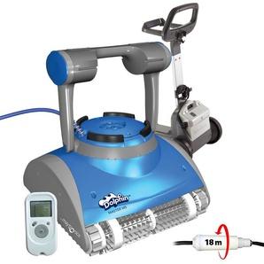 robot electrique de piscine fond, parois et ligne deau avec télécommande et chariot - master m5 - dolphin - MAYTRONICS DOLPHIN