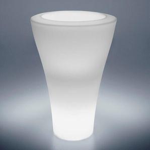 MING HIGH LIGHT-Pot lumineux dextérieur H100cm Blanc Serralunga - designé par Rodolfo Dordoni