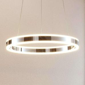 Suspension LED Lyani en chromé, dimmable, 50cm