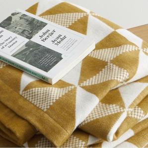 Sindal, plaid en coton tissé, 130 x 170 cm, brun clair