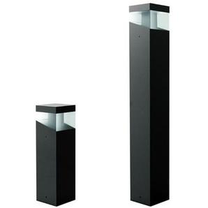 TETRAGONO-Borne dextérieur LED H45cm anthracite Artemide - designé par Ernesto Gismondi
