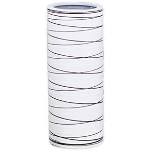 Chakil Tracer Une Ligne Grand Vase Créatif Bouteille De Stockage Décoration Conteneur De Plantes Maison Mariage Jardin De Vase Size 27.5 * 11 * 11cm (Blanc)