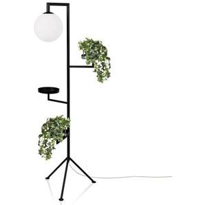 ASTORIA-Lampadaire tripode avec tablettes H153cm Noir Globen Lighting - designé par Anna Landerholm