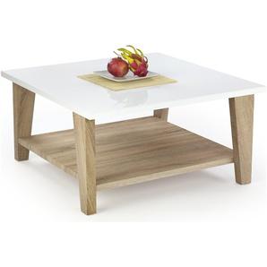 JUSTyou Kiana Table basse 40x80x80 cm Chene Blanc