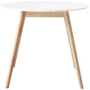 Table à manger ronde blanche 4 personnes D90 Spring
