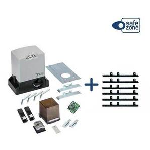KIT DELTA3 FAAC complète coulissant 900KG 230V + 6M Crémaillère Nylon