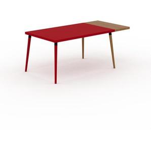 Table à manger - Rouge, design scandinave, pour salle à manger ou cuisine nordique, table extensible à rallonge - 180 x 75 x 90 cm