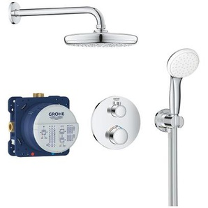 Set de douche Tempesta 210 avec thermostat encastré, chrome (34727000) - GROHE