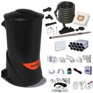 aspirateur centralisée DYVAC pack DYVAC Garantie 2 ANS (jusquà 300 m²) + set de nettoyage standard 10 m + 7 accessoires + kit 3 prises + kit prise balai + kit prise garage