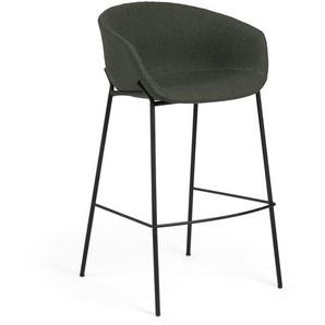 Kave Home - Tabouret de bar Yvette vert hauteur 74 cm