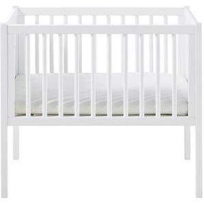 Berceau bébé à barreaux 40x80 blanc Bulle