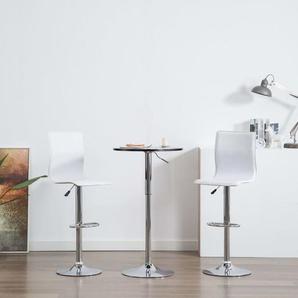 Chaises de bar 2 pcs Blanc Similicuir - VIDAXL