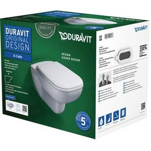 Pack WC suspendu Duravit D-Code 457009 - cuvette Rimeless + abattant frein de chute