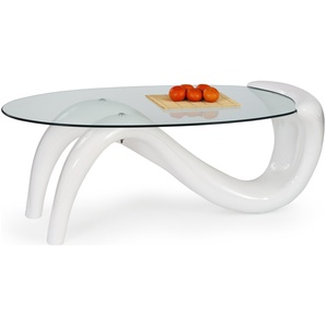 JUSTyou Cortina Table basse 46x65x127 cm Blanc