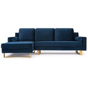 Canapé dangle design velours bleu - Midnight