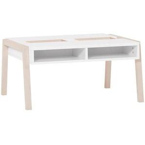 Table basse blanche et bois Spot Young