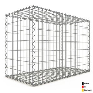 Gabion 100x70x50cm « made in Germany » - mailles rectangulaires 5x10cm - GABIONDECO