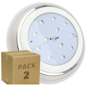 PACK Spot LED Inox Submersible en Saillie 24W (2 Un) Blanc Chaud 3000K - LEDKIA