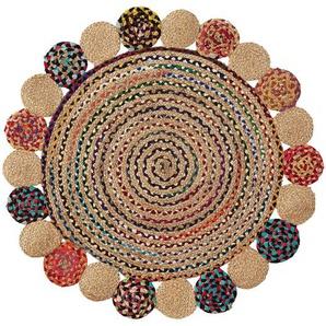 Tapis rond Ginnis Ø100 cm jute multicolore