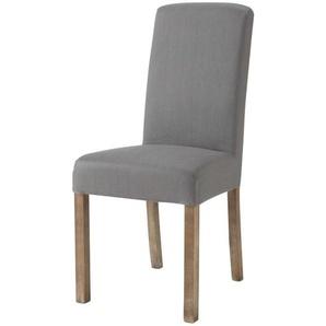 Housse de chaise en lin lavé grise Margaux