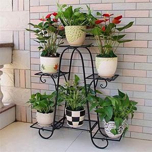 Meubles de salon modernes Support de fleur en métal de fer / support 6 rangées de présentoir de fleur de plante Salon balcon intérieur et extérieur (couleur: blanc, taille: 76 * 23 * 73cm)