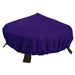 QCWN Housse de Protection Ronde pour Foyer, Bouilloire, Ottoman, Polyester 300D 111,8 cm Diax6 H Protection Contre Les intempéries Violet