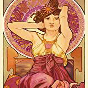 Alphonse Mucha Poster Papier Peint - Les Pierres Précieuses, LAméthyste 1900, 1 Partie (250 x 79 cm)