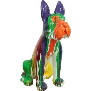 Kuateh Boston Terrier Coloréen Polyrésine 52 cm x 33 cm x 72 cm - 50221011410460 - KUATÈH