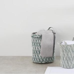 Essentials - Visby, lot de 2 sacs de rangement imprimés, bleu turquoise
