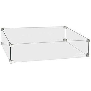 Easyfires Table à feu rectangulaire en Verre 80 x 40 x 17 cm