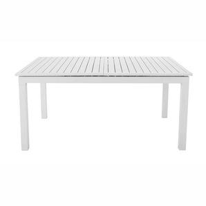 Table de jardin à rallonge en aluminium blanche L 160 à L 210 cm Extenso