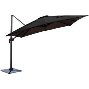Parasol déporté MOLOKAI carré 3x3m noir - HAPPY GARDEN