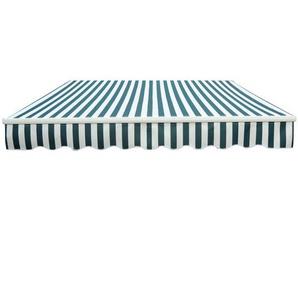 Store banne manuel de jardin terrasse auvent retractable structure en alu 3,95L x 3l m vert et blanc - HOMCOM