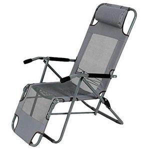 Fauteuil Relax,Axdwfd Chaise longue Chaise longue, Chaise pliante Balcon Pause déjeuner Bureau Chaise Chaise Siesta été Président Plage Chaise longue Chaise 45 * 42 * 100cm (couleur: GREY) -gris