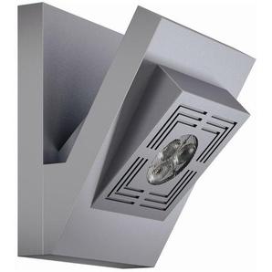 TRESOL CUBE-Applique LED Aluminium H12,3cm Argenté Osram