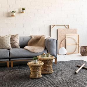 Tapis de laine Uno Gris 300x400 cm - Tapis nature
