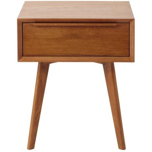 Table de chevet vintage 1 tiroir en chêne massif Portobello