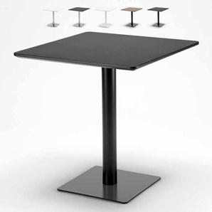 Table carrée 70x70 pour bars restaurants hôtels base centrale HORECA   Noir - Verni en Noir - AHD AMAZING HOME DESIGN