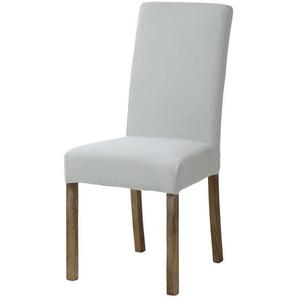 Housse de chaise en lin bleu glacier
