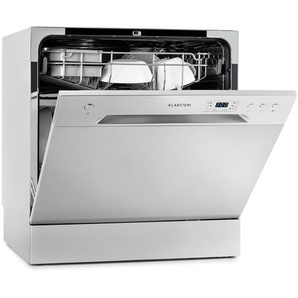 Klarstein Amazonia 8 Mini Lave-vaisselle de table 6 programmes 1620W A+ - gris