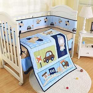 Relaxbx Protections pour Pare-Chocs pour lit de bébé, 100% Coton Protections pour lit de bébé en Tissu Lavable à la Machine et Respirant