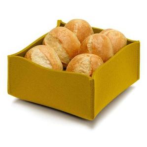 Hey-Sign Corbeille à pain - jaune moutarde/LxPxH 22.5x22.5x10cm/épaisseur de feutre 5mm